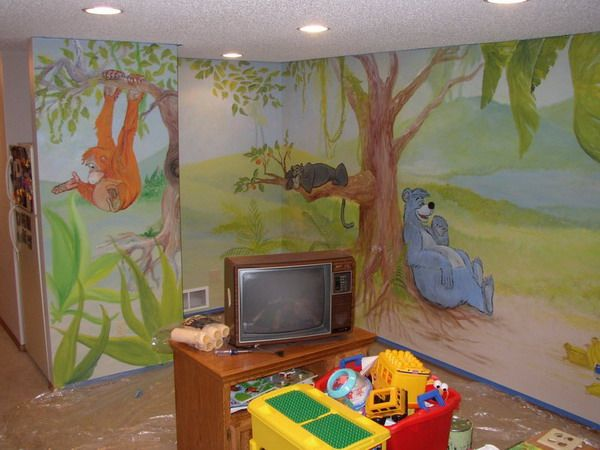 Playroom Mural Ideas 14 best jungle art images on pinterest murals wall paintings and animals jungle wall murals room design ideas sisterspd