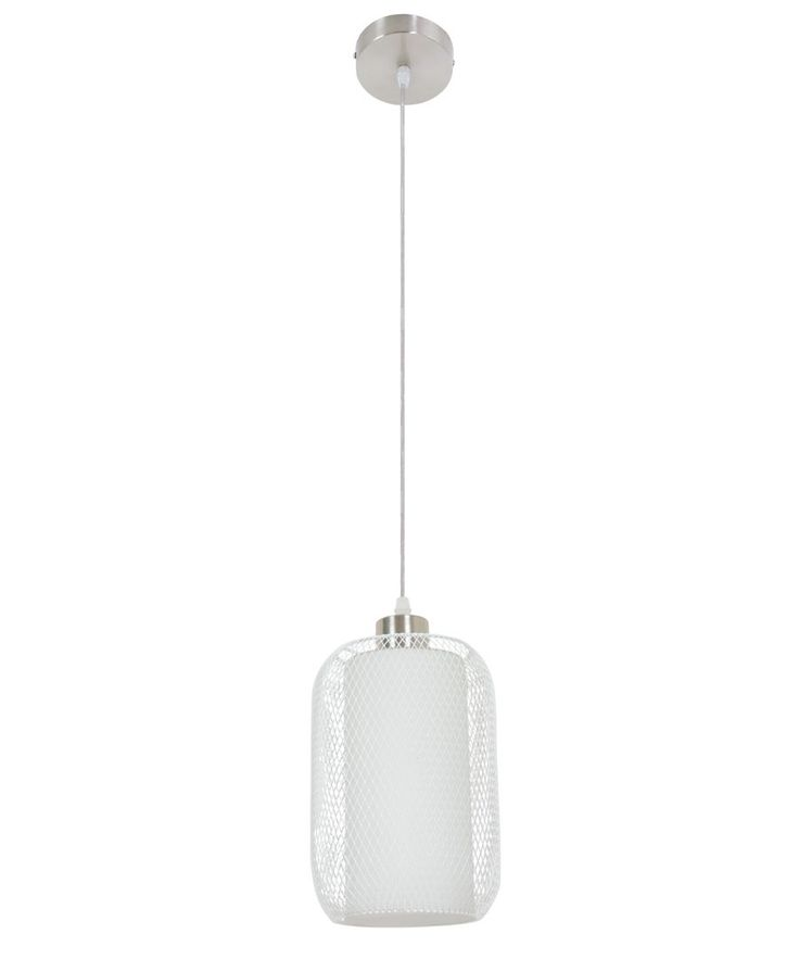 Beacon Lighting - Seltzer 1 light pendant in white with frosted opal diffuser