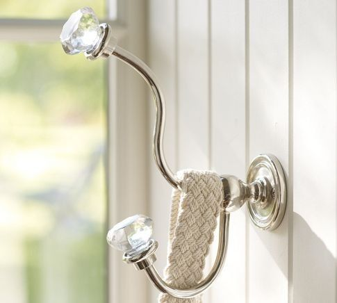 classic glass hardware traditional hooks and hangers pottery barn