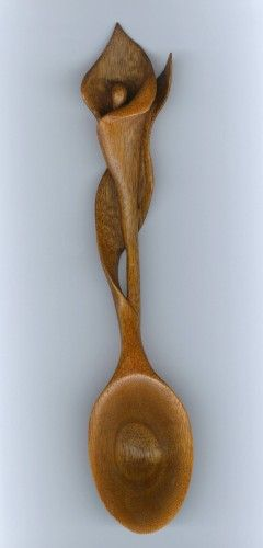 Image detail for -This spoon was hand carved in mahogany by Alan and can be carved in a ...