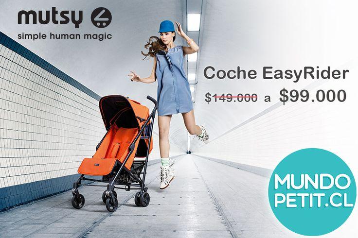 Mutsy . Coches Easyrider. Tecnología , Diseño y comodidad. www.mundopetit.cl #coches #mutsy #Chile #mundopetit