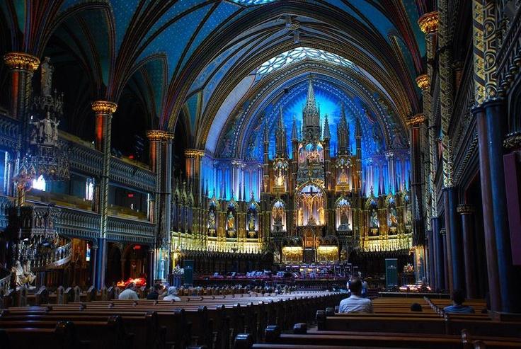 Notre Dame Basilica (Basilique), Old Montreal, Quebec - afagen @ flickr - Pixdaus