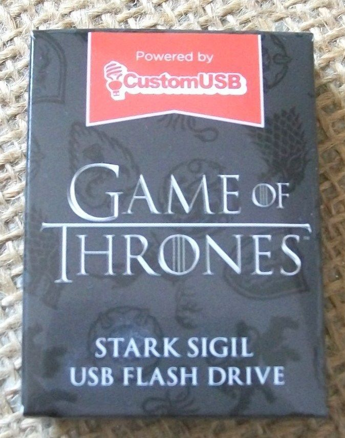 GAME OF THRONES Stark Sigil 4GB USB Flash Drive, Loot Crate Exclusive NEW NIB #CustomUSB
