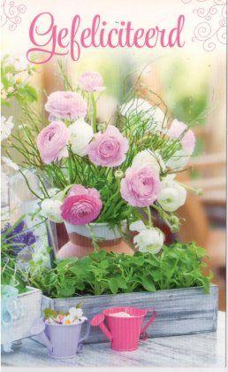 Felicitatiekaartjes met bloemen