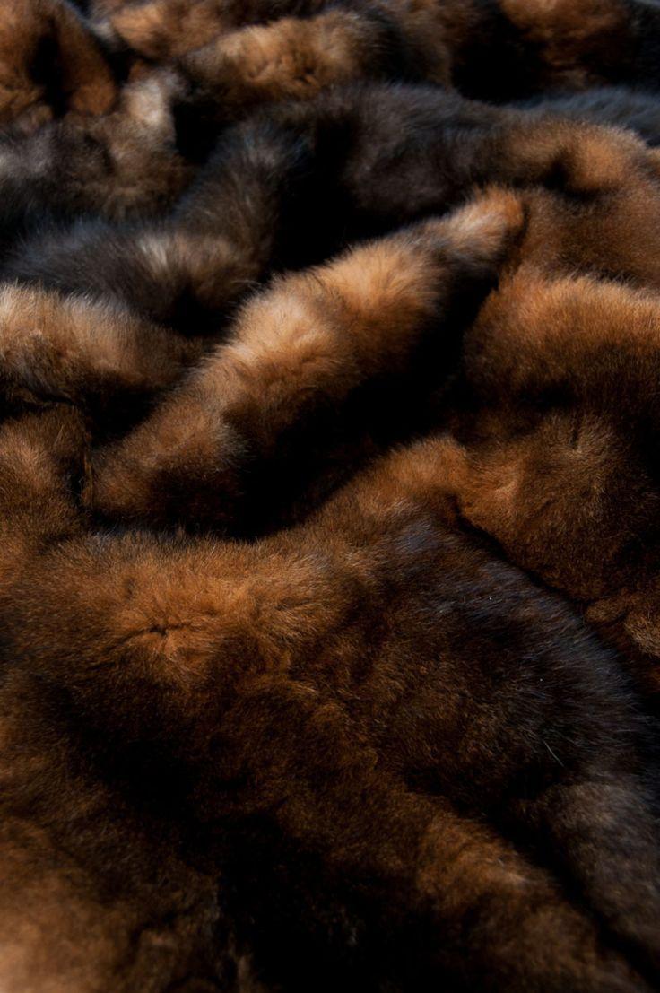 Natural Red Brown Possum Fur Throws | Brown Fur Throws & Blankets