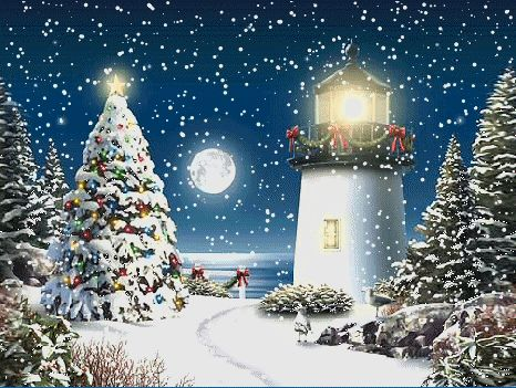 Light house at Christmas................................ Love it!!!!!!!!!!!!!!!!!!!!!!!!!!!!!!!!!!!!