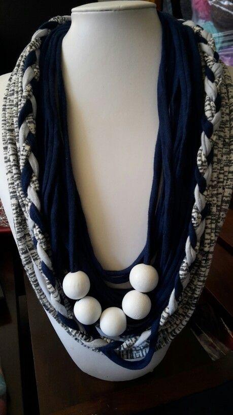 "T-yarn necklace ""Sailer"" @Toetsie's Trinkets (facebook)   076 990 67 85 Jeandre Fullard #Strawberryfestival @Britsmall 11-13 September"