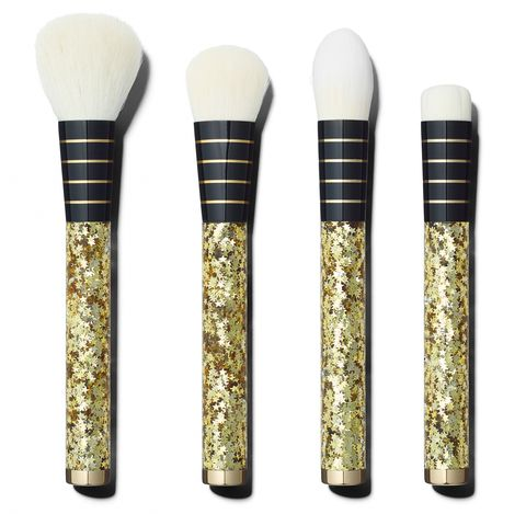 Her vanity gets a golden rush with these glitter-flecked Star Struck brushes from celeb makeup artist Sonia Kashuk. More gifts for the ladies at Usmagazine.com!
