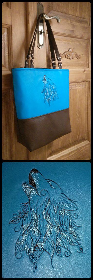 wolf embroidered handbag fb: ka.bela boutique
