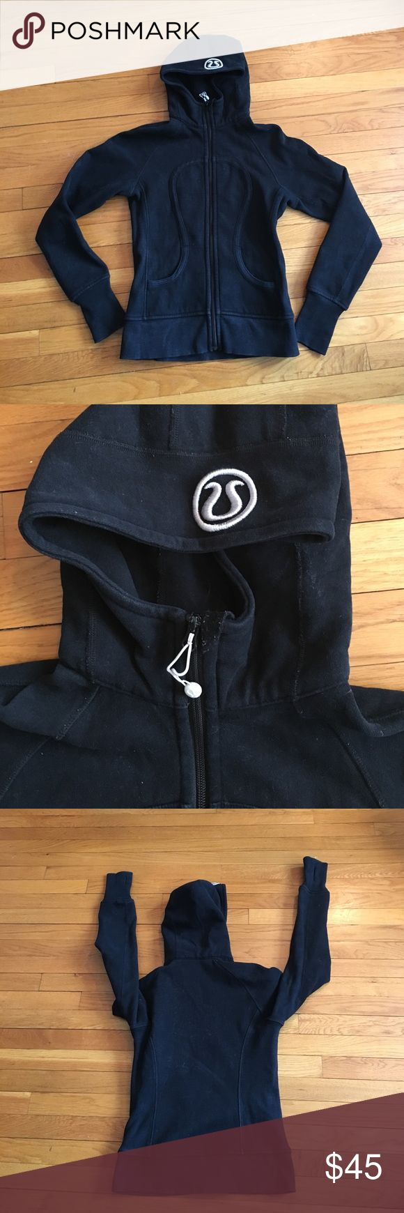 Lululemon Scuba Hoodie Black 4 Women's Lululemon Scuba Sweatshirt. Black full zip hoodie. Size tag is removed but this is a size 4. lululemon athletica Jackets & Coats