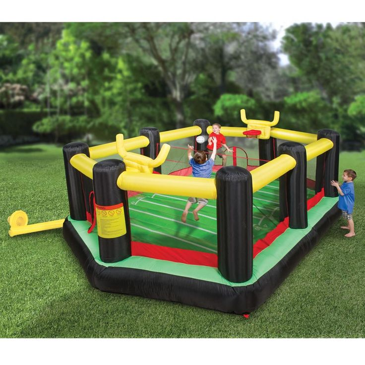 The Inflatable Backyard Sports Arena - Hammacher Schlemmer
