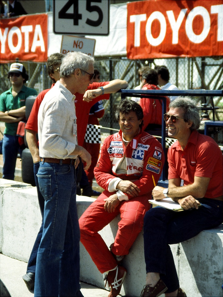 Paul Newman, Mario Andretti and engineer Tony Cicale