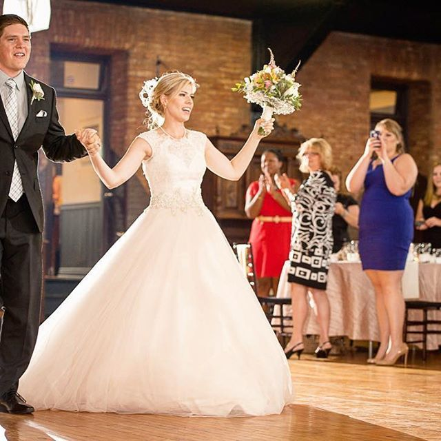 The grand entrance & this dress! Perfect Cinderella moment.