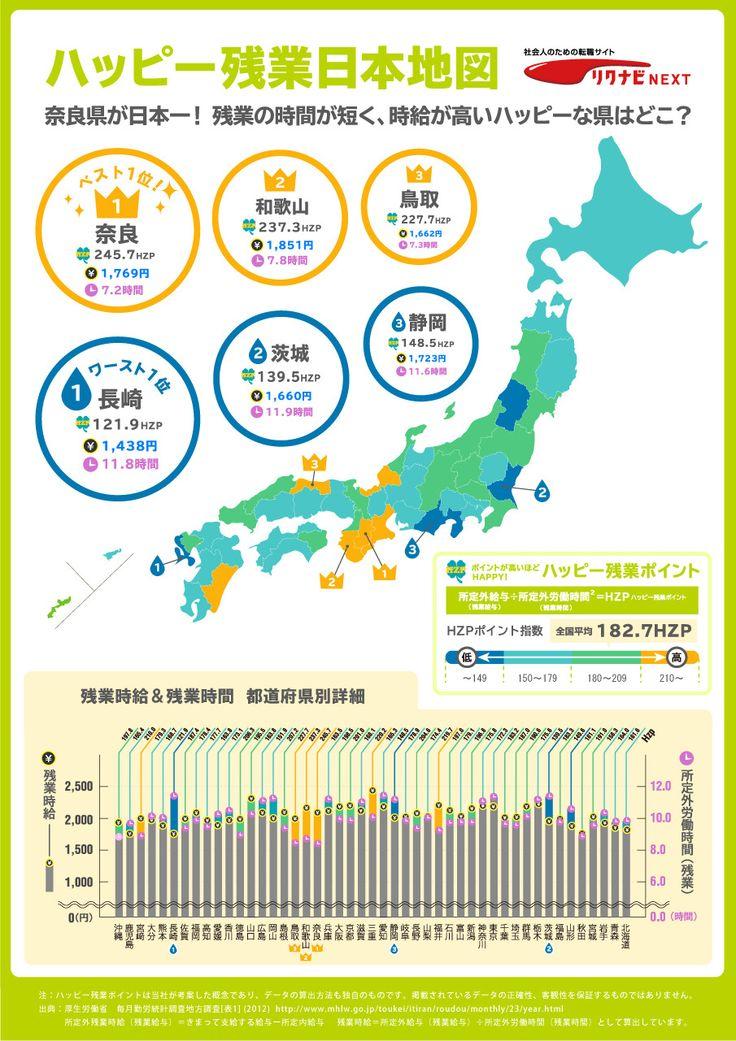 infogra.me(インフォグラミー)| ハッピー残業日本地図