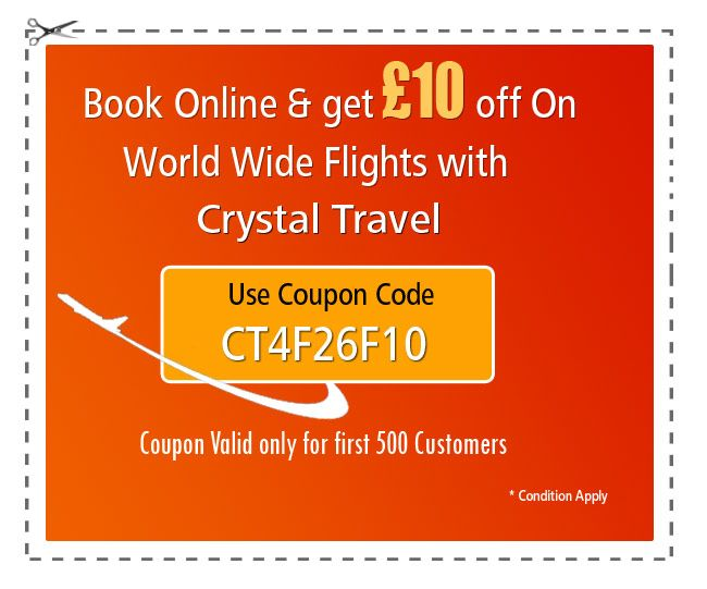 #GoodMorning Travelers!! Grab our exclusive 10£* discount coupon on booking world wide flights online. Use coupon code CT4F26F10 while paying online * T & C - Discount only on Economy Class Flights - Minimum booking amount must be £500 - Prices are subjected to availability - Only First 500 customers can avail this discount - Offer valid till 7th Sept #travel #holiday #deal #travel #cheapholidaydeals #cheapdeals #cheapflights #verycheapflights #cheapflightsdeals #Europe