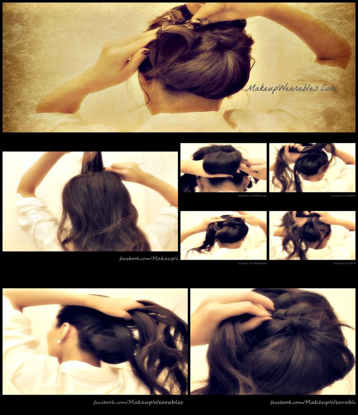 step-by-step video hair tutorial – how to do a voluminous bun/chignon updo hairs