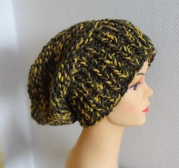 Sacking Winter Hat  Hand Knit Hat  Autumn Accessories  by Ifonka