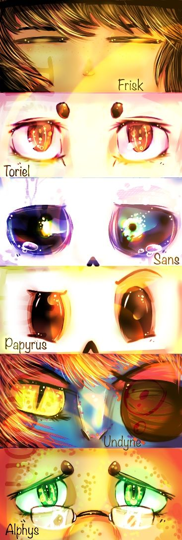Undertale eyes by 1TheMidnightMoon1.deviantart.com on @DeviantArt
