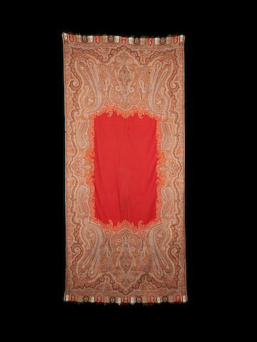 A Kashmir long Shawl for the Persian market India,  19th Century