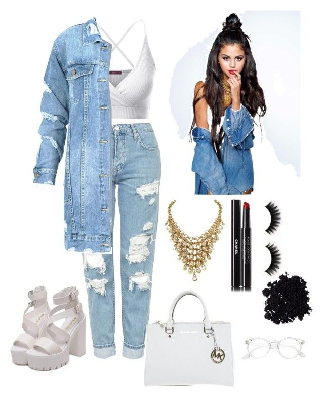 """""""Selena Gomez"""" by sophie0605 on Polyvore featuring Doublju, Topshop, Chanel and Michael Kors"""