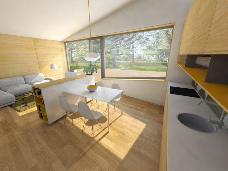 Návrh jedálne - Interiér radových domov, novostavba, Ružindol - Interiérový dizajn / Dining room interior by Archilab