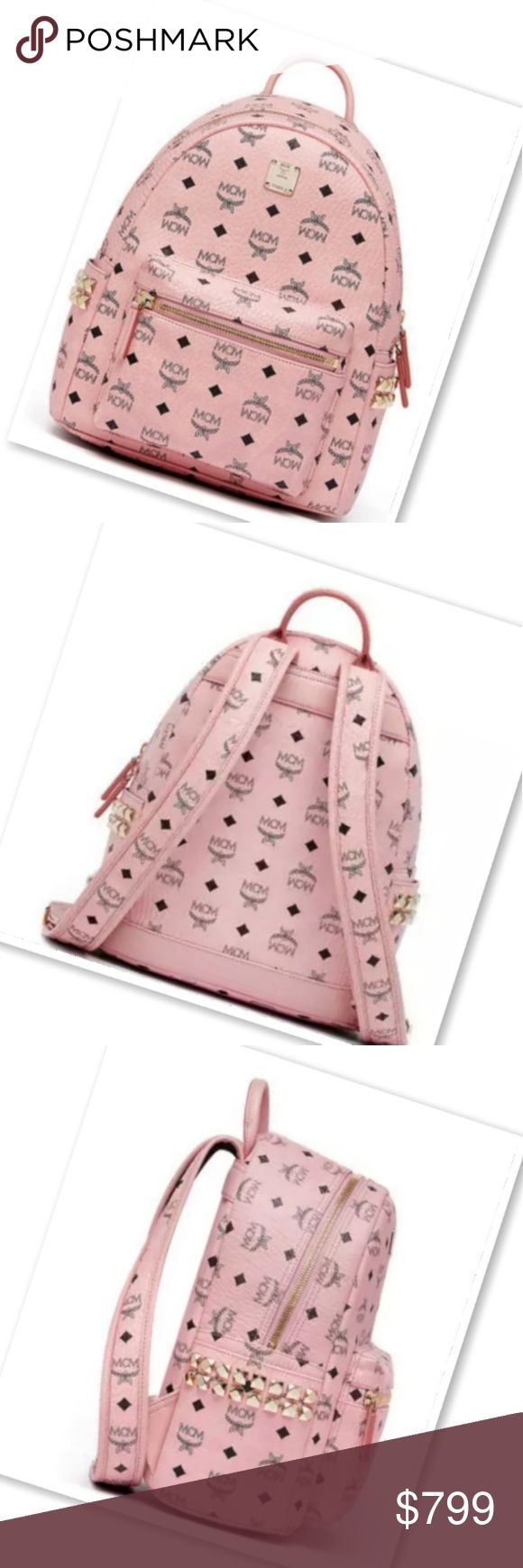 MCM Small Bag Authentic MCM Small Side Studded Backpack  No Trades  Brand New Posh HQ will authenticate  Price is Firm mcm Bags Backpacks