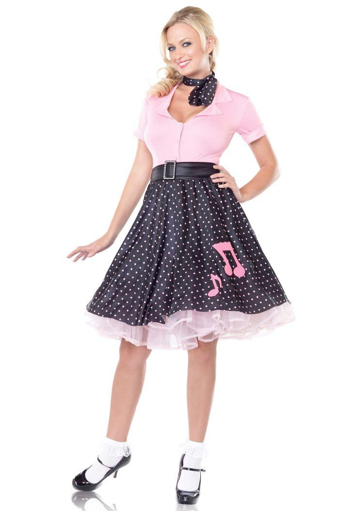 50s Sock Hop Cutie Costume - Sexy Poodle Skirt Costume for Halloween | Halloween | Pinterest ...