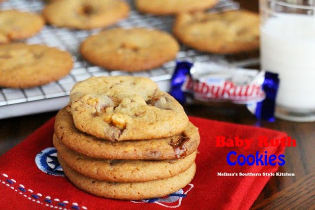 Melissa's Southern Style Kitchen: Baby Ruth Cookies