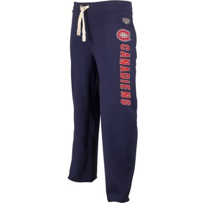 Mens Montreal Canadiens Old Time Hockey Navy Blue Wordmark Sweatpants