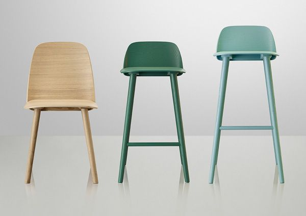 The Nerd series of bar stools, designed by MUUTO