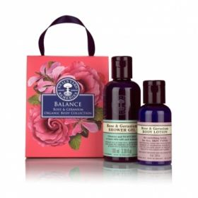 £14 NEW Balance Rose & Geranium Organic Body Collection - Neal's Yard Remedies