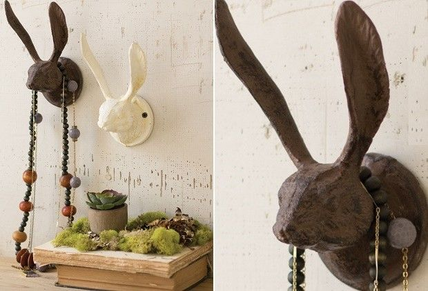 Rabbit Hook | Decorative Wall Hooks | Cast Iron Hooks