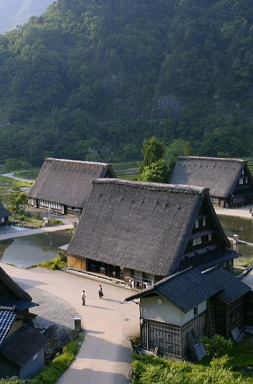 Honshu, Chūbū region, Gifu prefecture, Ōno District - Shirakawa Village (白川郷), together with Gokayama in Nanto, Toyama, it is one of UNESCO's World Heritage sites.