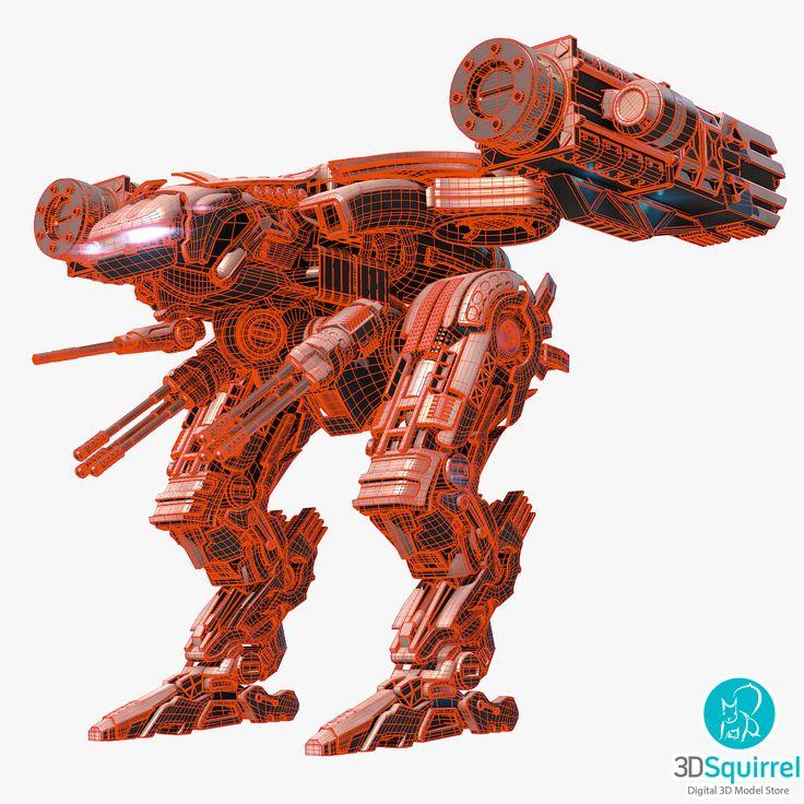 Two Legged Mech 3D Model obj blend | 3DSquirrel