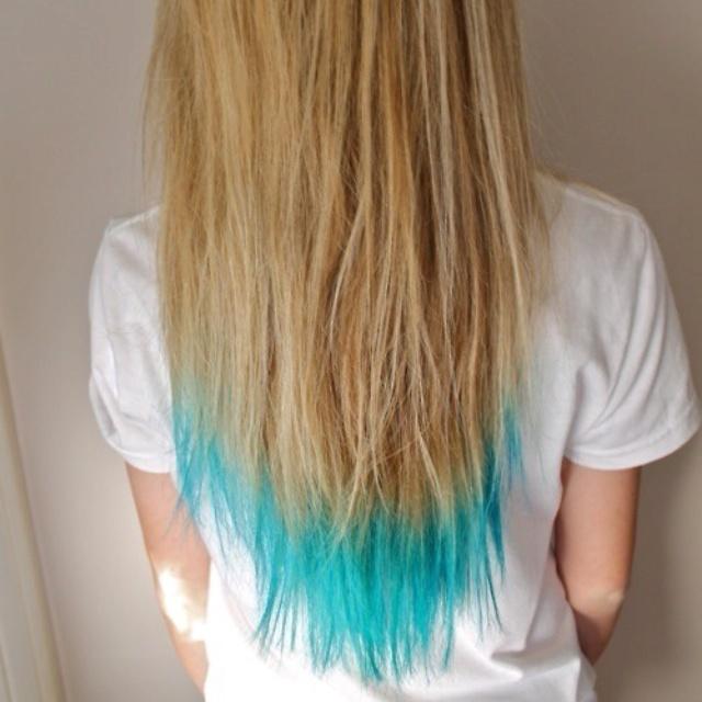 Teal Hair I Wanna Try Thisss Cool Dip Dye Hair Teal