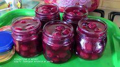 Domogród: Frużelina wisniowa czyli lśniące wiśnie w żelu-shiny cherries
