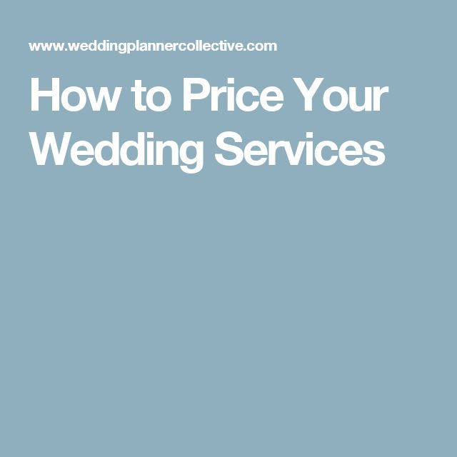 How to Price Your Wedding Services