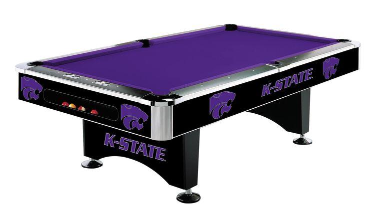 8Ft Pool Table - Kansas State University Wildcats