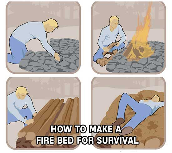 How To Make A Survival Fire Bed. This is a really good way to survive a night when you know its going to get real cold and you have no shelter.