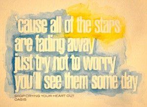 Oasis lyrics + watercolor