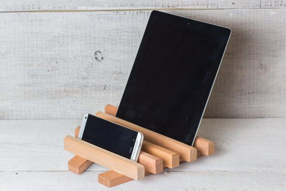 Wooden iPad stand / holder for home office kitchen by ApricotArt, $21.00