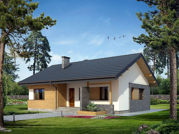 Niewielki nowoczesny dom parterowy idealny dla 4-osobowej rodziny…