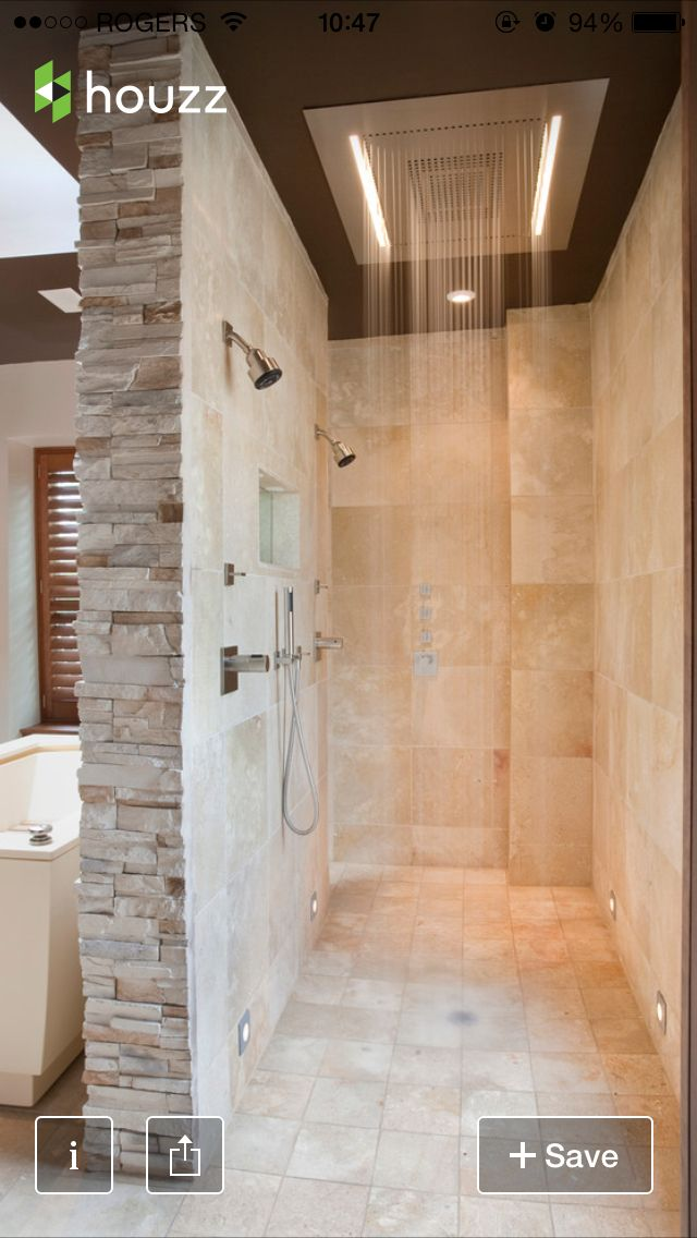 Best 25 walk through shower ideas on pinterest rainhead for Walk through shower plans