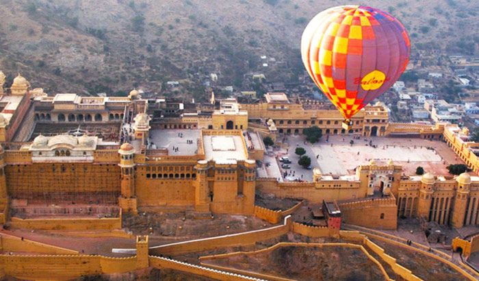 Touch the skies on a hot air balloon ride over Jaipur