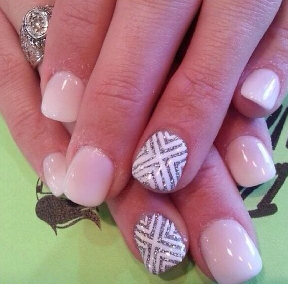 Dainty Pink with White Gray Accent