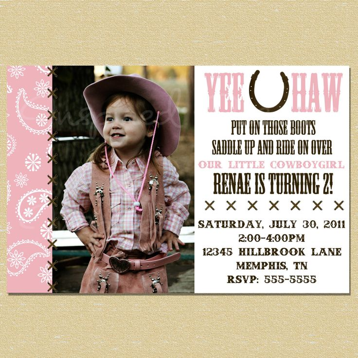 9 best western inspiration images on pinterest | invitation ideas, Birthday invitations