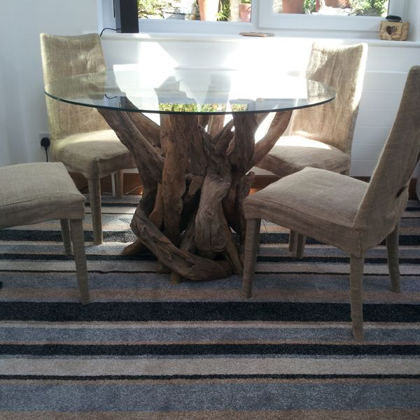 Marvelous Natural Driftwood Round Dining Table Base With 1200mm Diameter Glass Top  Www.dorisbrixham.com
