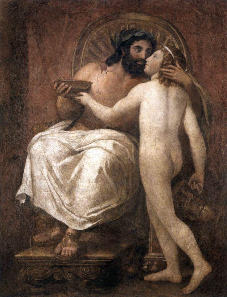 Anton Raphael Mengs, Giove e Ganimede, 1758-59, Affresco trasferito su tela, Galleria Nazionale d'Arte Antica, Rome