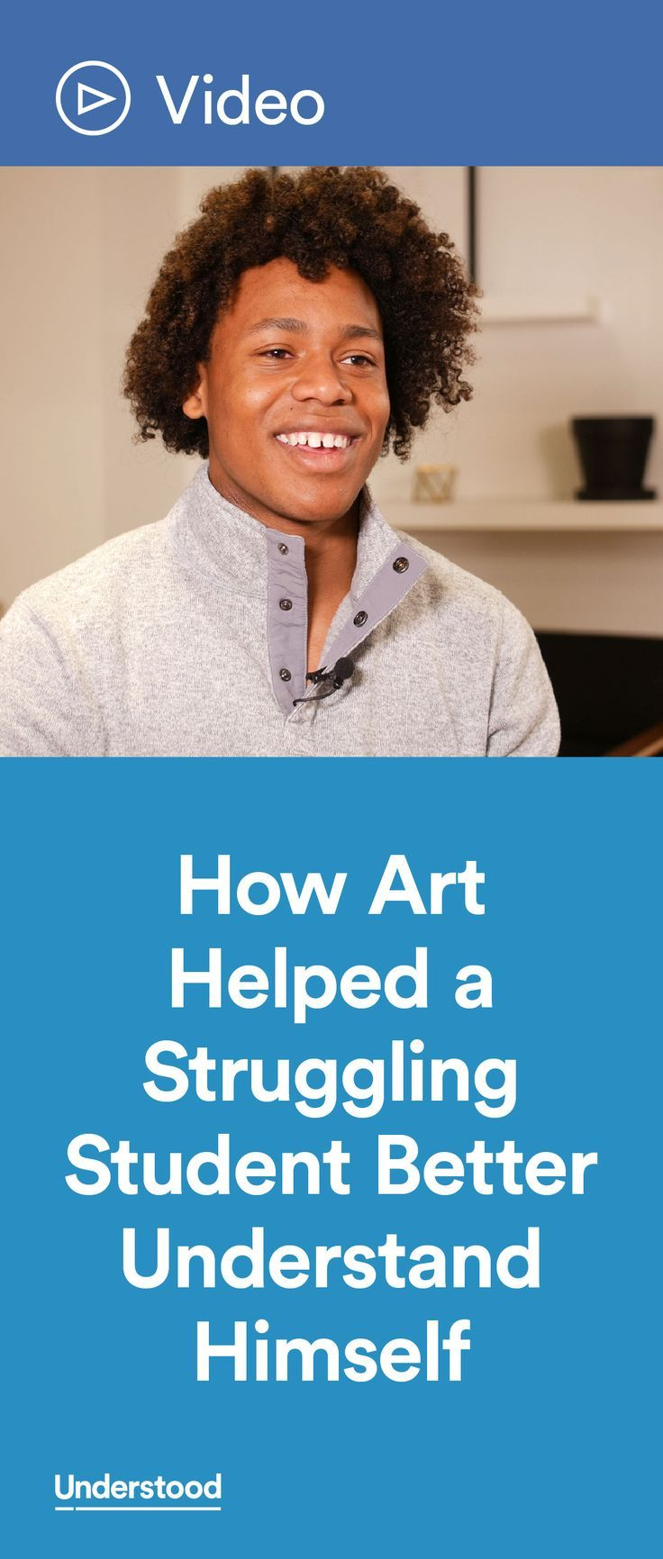 Student Marcos Allen talks about when he discovered this talent, and how art helped build his confidence while he was struggling academically with dyslexia, dysgraphia, dyscalculia and ADHD.