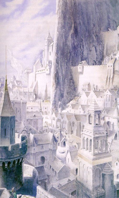 Within Minas Tirith, by Alan Lee